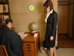 Office lady got drilled in a private home